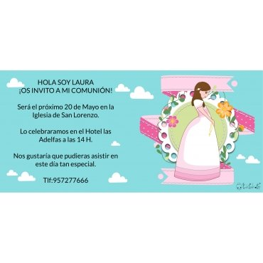 Invitaciones de Comunion Originales